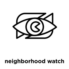 neighborhood watch icon isolated on white background