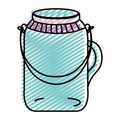 doodle transparent mason jar preserve object