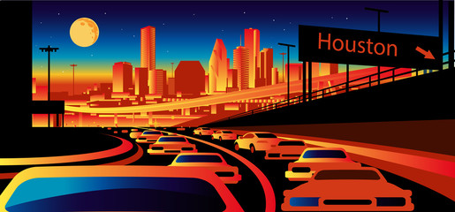 Fotomurales - Houston Texas skyline
