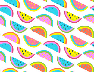Trendy melon print texture vivid and bright. Vector illustration.