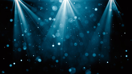 Blue background with a spotlight for night performance: abstract