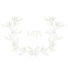 Frame olive Design White Olive digital clip art beautiful watercolor drawing flowers illustration similar on white background