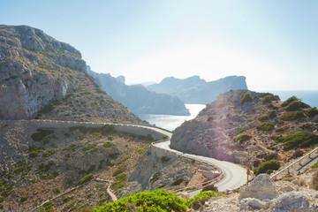 Cap de Formentor, Mallorca - Country road to Cap de Formentor