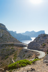 Cap de Formentor, Mallorca - Country road through the wonderful mountains of Formentor