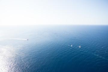 Cap de Formentor, Mallorca - Farsightedness across the Mediterranean Sea onto some boats