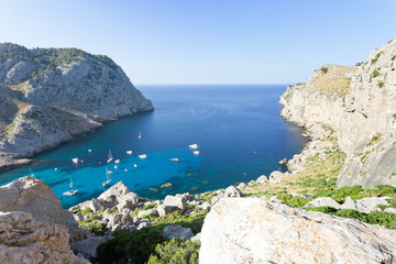 Cala Figuera de Formentor, Mallorca - Sailing-boats at the bay of Formentor