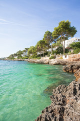 Cala d'Or, Mallorca - Enjoying the turquoise water at the beach of Cala d'Or