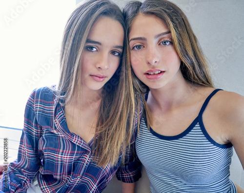 Beautiful Best Friend Teen Girls Portrait