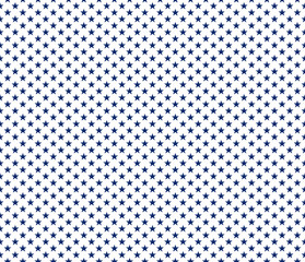 American patriotic seamless pattern blue stars on white background