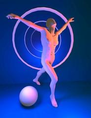 Il ballo, illustrazione 3D.