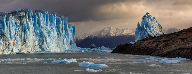Panorama of the Perito Moreno Glacier