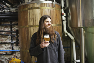Portrait of a beer brewer