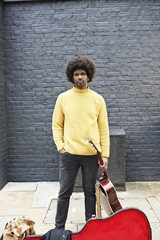 Portrait of a street performer