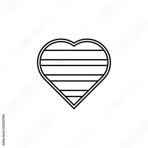 Lgbt Heart Icon Element Of Lgbt Illustration Premium Quality