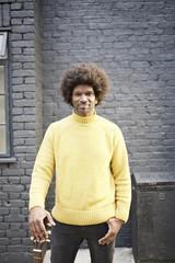 Portrait of a street busker