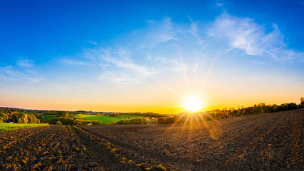 Wall Mural - Beautiful sunset in the countryside