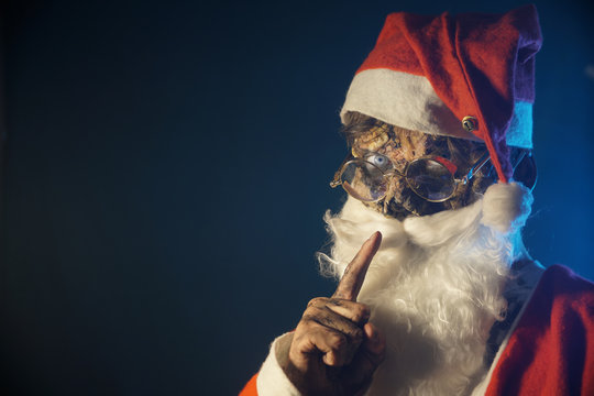 zombie Santa in Halloween costume