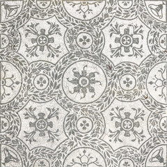 Ancient roman mosaic in Villa Adriana, Tivoli