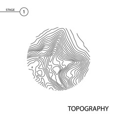 vector topography map