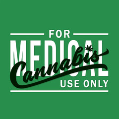 Medical Cannabis.  Vector and illustration.