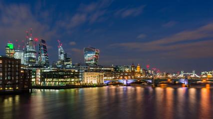 london city skyline in the night