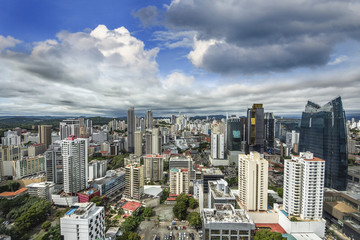Fotomurales - Aerial View from Panama City in Panama