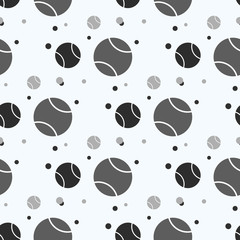 seamless pattern with tennis ball: sports balls. vector illustration