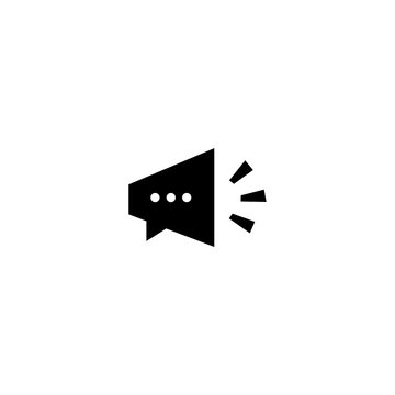 talk speak speaker chat bubble logo vector icon