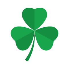 Shamrock clover icon. St. Patrick s day symbol