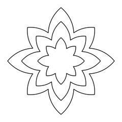 lotus flower icon, yoga symbol over white background, vector illustration
