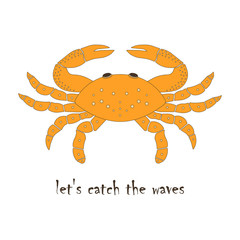 card with a crab