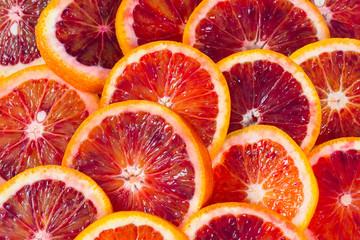 blood orange isolated on white