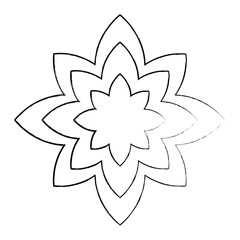 sketch of lotus flower icon, yoga symbol over white background, vector illustration