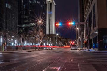 Bright city lights Fotomurales