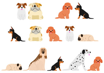 cute dogs border set2