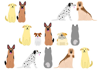 cute dogs border set1