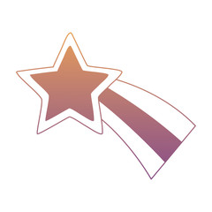 cute shooting star icon over white background, colorful design. vector illustratration