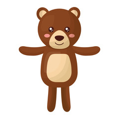 cute teddy bear childish isolated icon vector illustration design