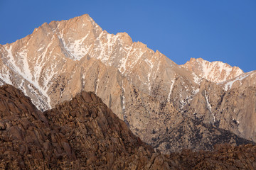 Sunrise landscape in the Eastern Sierra Mountains, California, USA.
