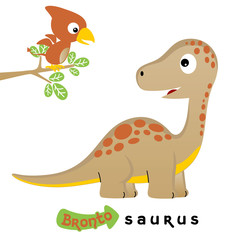 cute dinosaurs vector cartoon illustration on white background