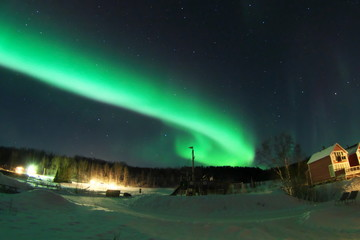 Aurora extending to the northern sky IN NORWAY