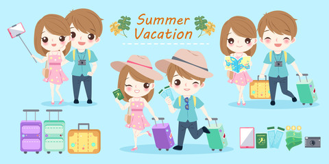 couple with summer vacation