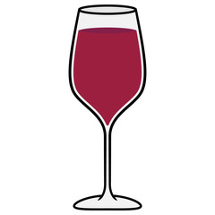 Cartoon Glass of Wine