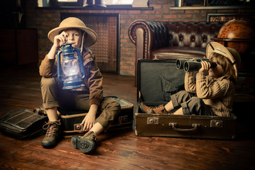children travel in fantasies