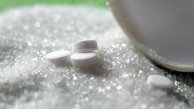 Sugar substitute pills, so close
