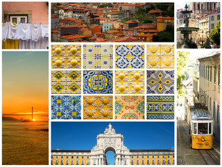 Collage showing portugal