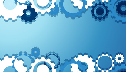 Engineering Gears Wallpaper in Blue