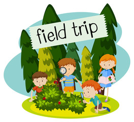 School Field Trip in the Nature