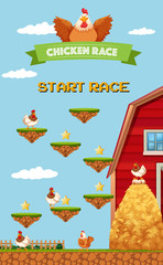 Farm Chicken Racing Game Template