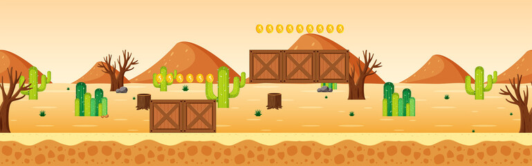 Coin Collecting Game Desert Scene